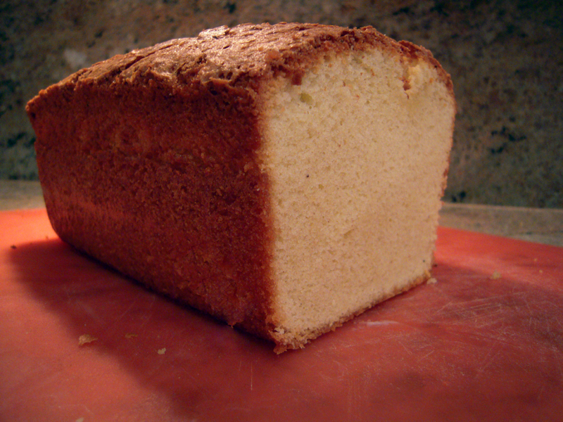 Pound cake sliced