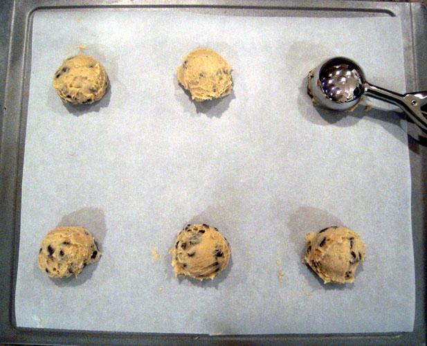 Chocolate chip dough balls