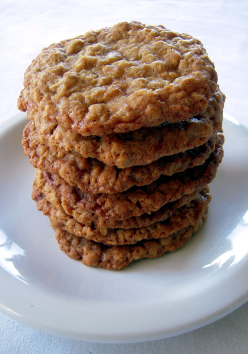 Oatmeal cookies stack