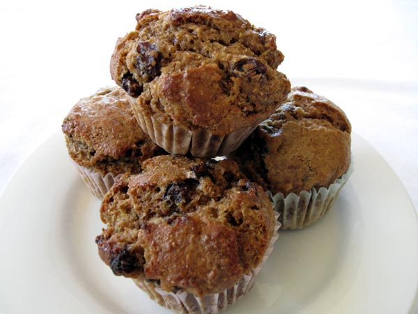 Moist Raisin Bran Muffins (for 2 or 12) - Cook Like James