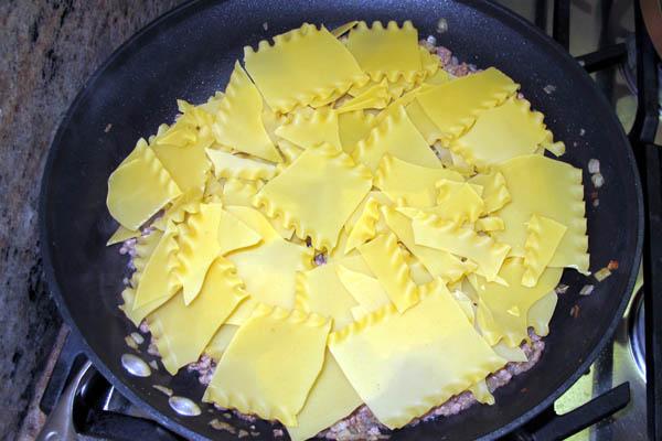 Skillet lasagna noodles 2