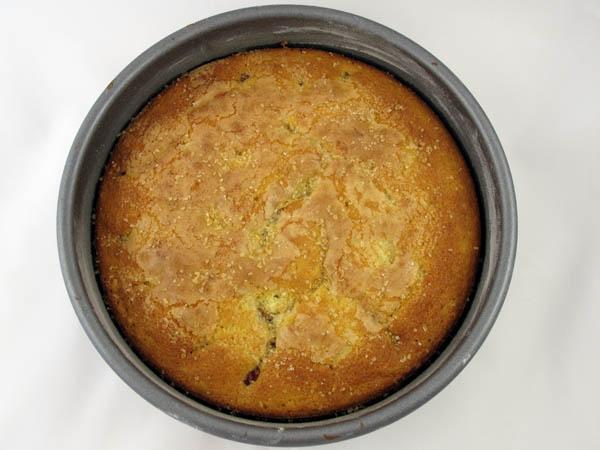 Raspberry cake baked