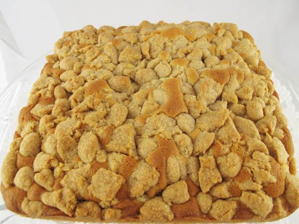 Crumb cake baked