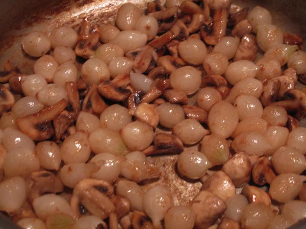 Sauteed onions mushrooms