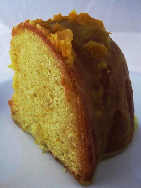 Orange cake slice 4