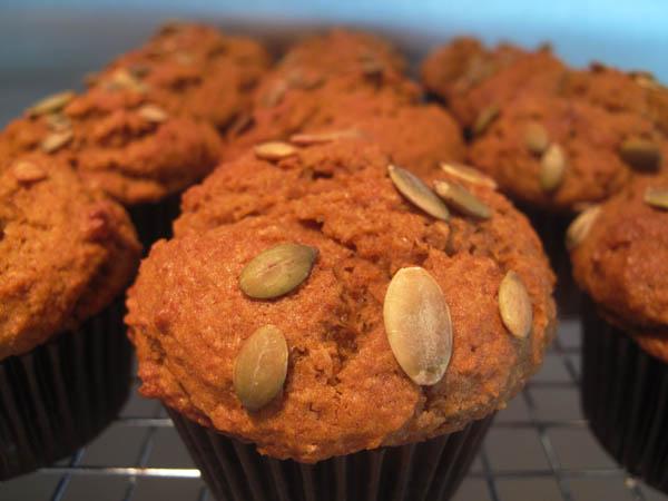 Pumpkin muffins seeds