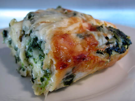 ... spinach as i mentioned yesterday triple cheese spinach strata i ve