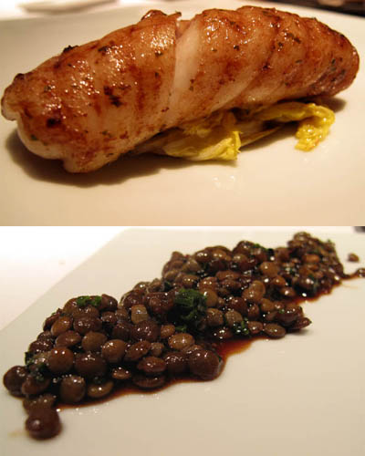 Skate and lentils