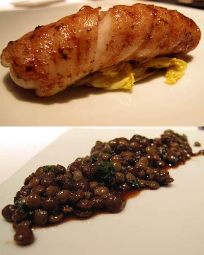 Skate and lentils