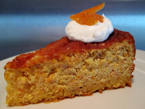 Clementine Almond Cake slice
