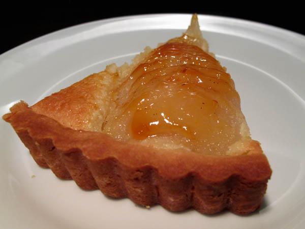 Pear tart slice