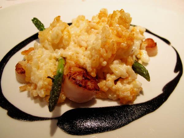 Arola Baby scallops with creamy rice
