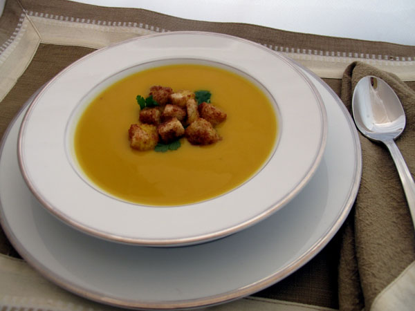 Butternut squash soup bowl