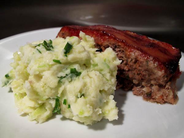 Meatloaf colcannon