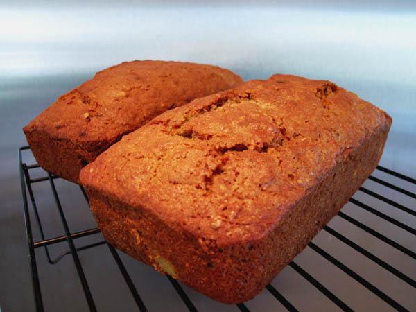 Zucchini bread loaves