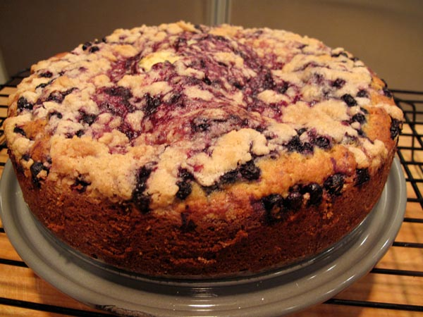 Blueberry buckle baked