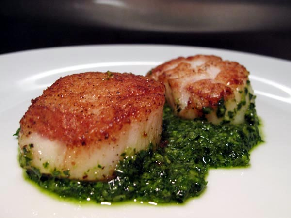 Seared scallops 1