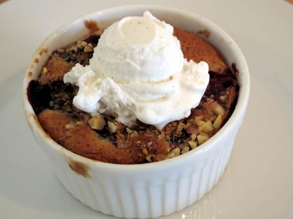Blackberry Walnut Cake Ice Cream