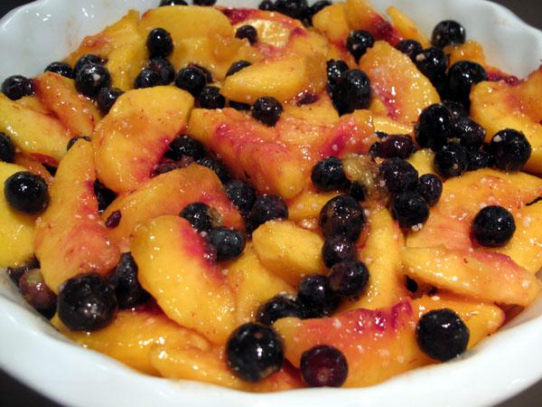 Peach crisp fruit