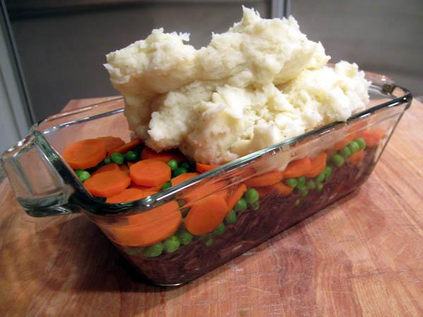 Shepherd pie layers