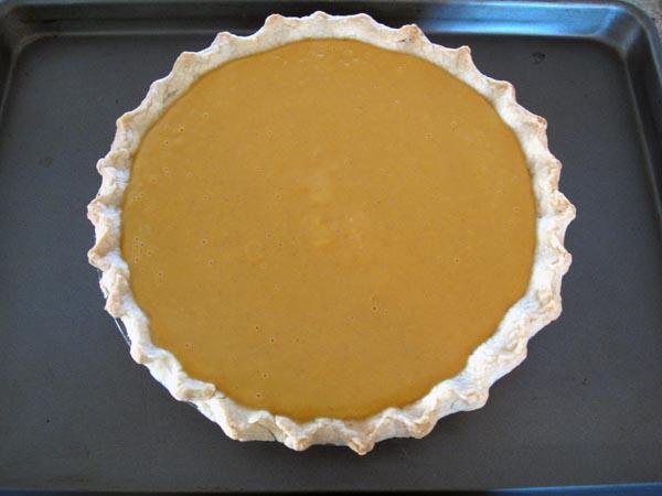 Pumpkin pie filled