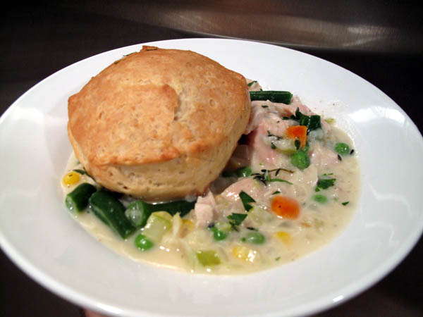 Quick biscuit pot pie