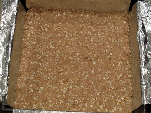 Date nut bar crust