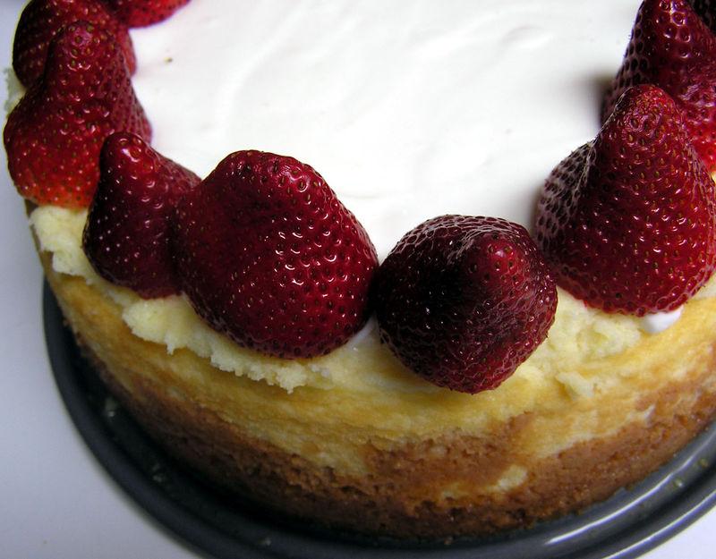 Cheesecake strawberries
