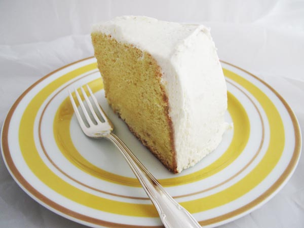 Lemon Chiffon Cake with Whipped Cream Frosting - Cook Like James