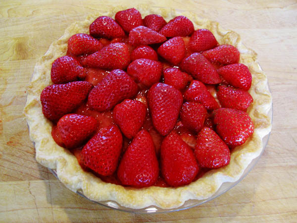 Strawberry pie unglazed