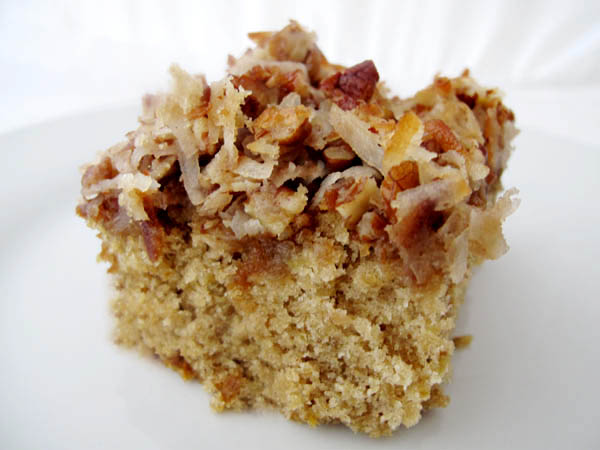 Oatmeal Cake Broiled Coconut Frosting 2