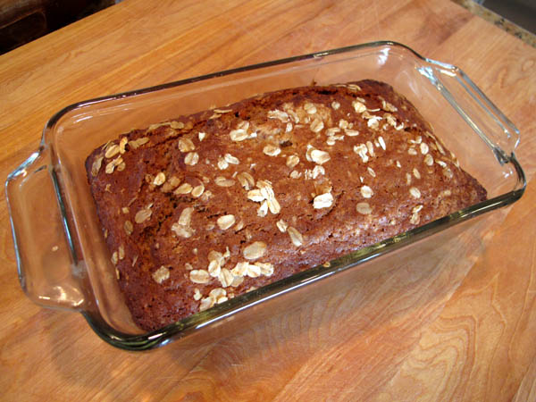Applesauce Oatmeal Bread baked