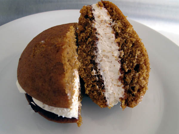 Whoopie pie sliced