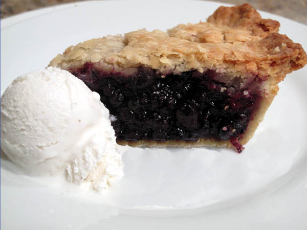 Make Ahead Blueberry Pie slice