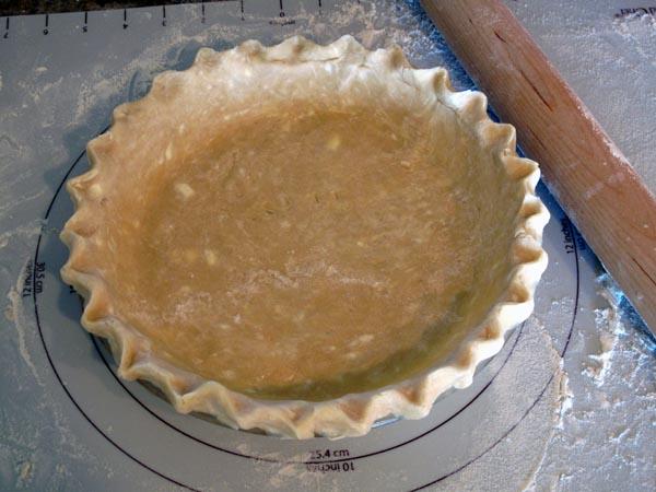 Pie crust crimped