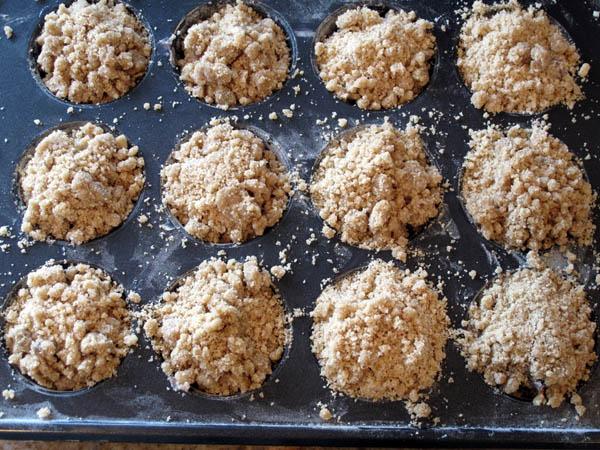 Blueberry Streusel Muffins prebake
