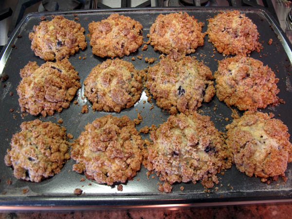 Blueberry Streusel Muffins baked