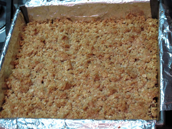 Date nut squares baked