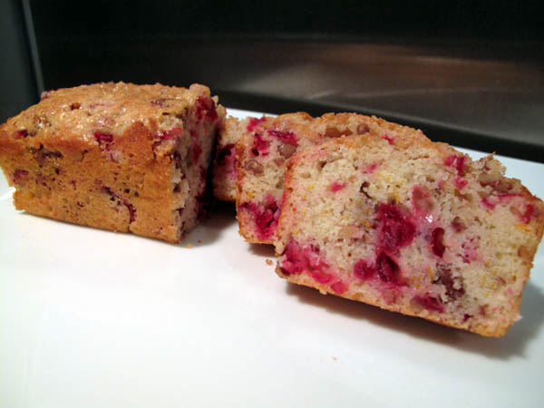 Orange Cranberry Nut Mini Loaves