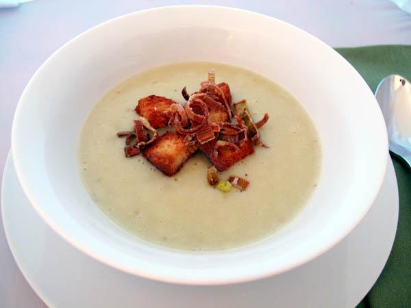 Leek Potato Soup Croutons