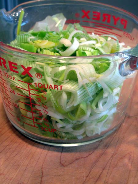 Leek potato soup chopped leeks