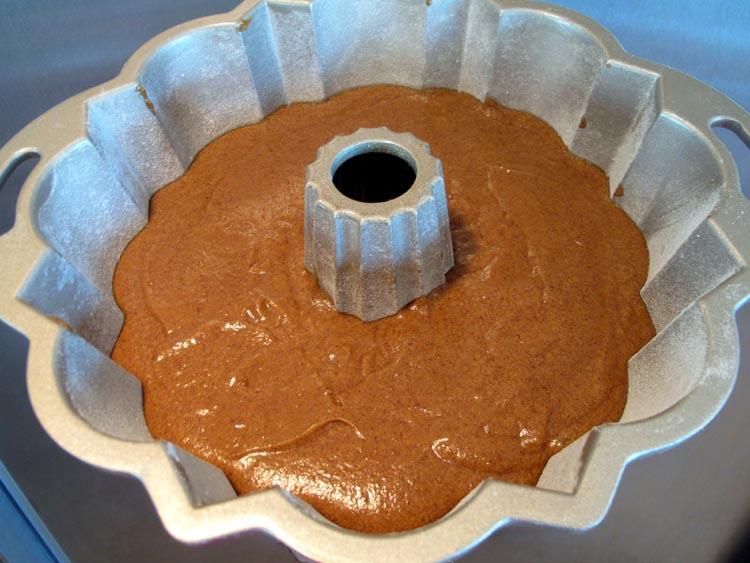 Gingerbread bundt batter