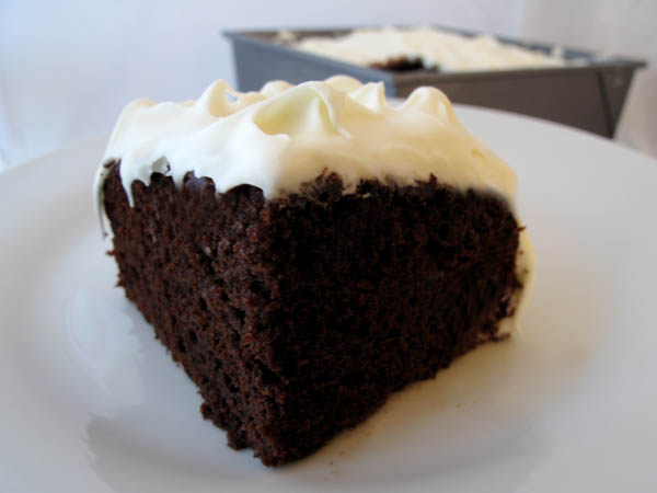 Chocolate Mayonnaise Cake piece