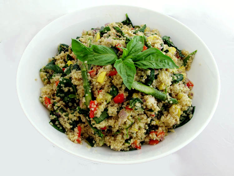 Spring vegetables with quinoa