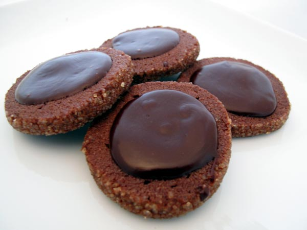 "Rich Chocolate ""Slice & Bake"" Cookies with Dark Chocolate Glaze ..."