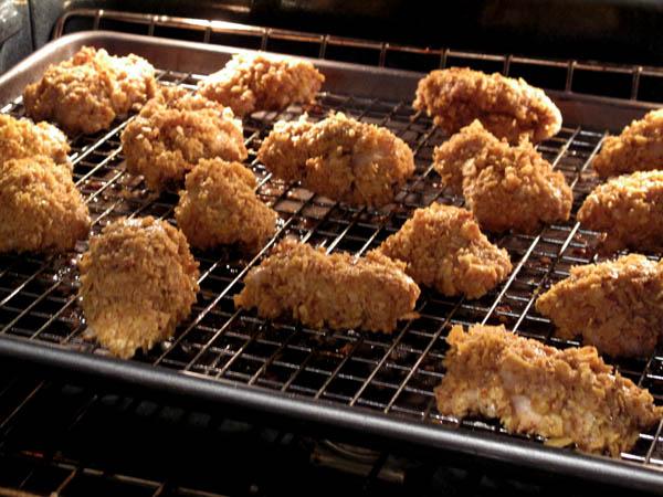Chicken taco nuggets baking