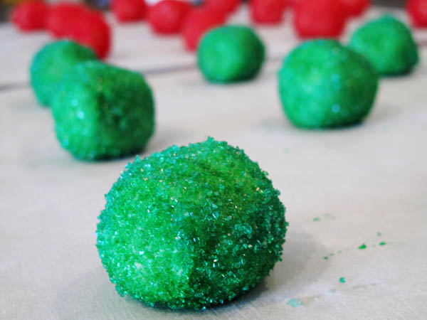 Sugar Cookies balls closeup