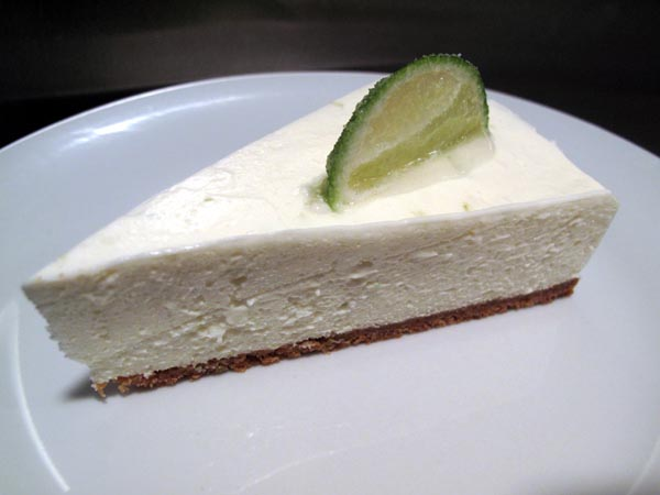 Creamy lime cheesecake slice