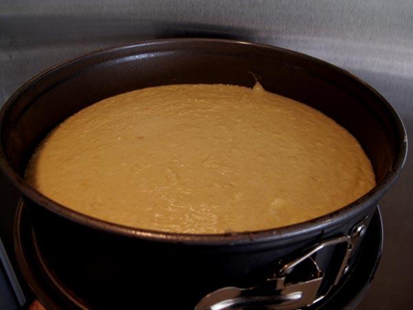 Almond cake prebake