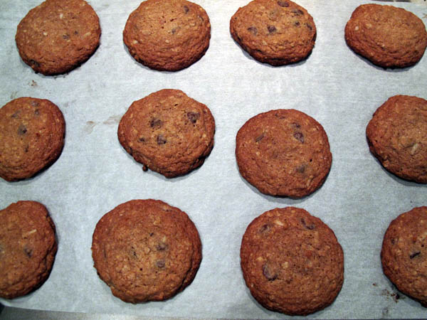 Earthy whole grain cookies baked